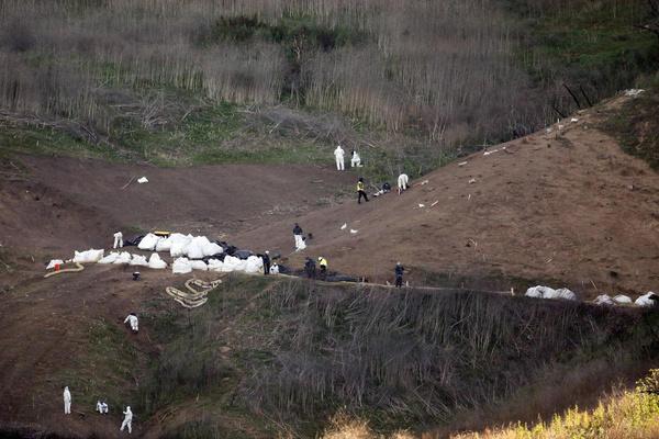Всех погибших нашли рядом с городом Калабасас
