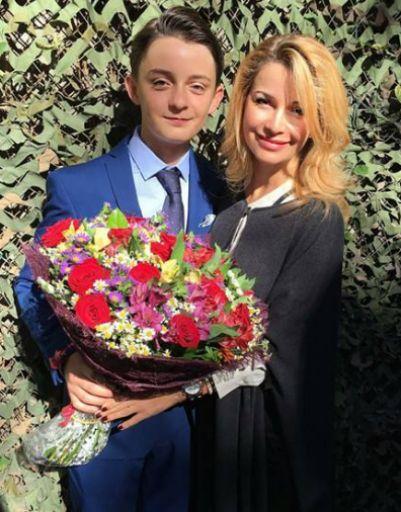 Ольга Орлова с сыном на 1 сентября
