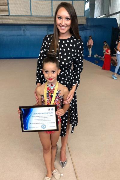 Маруся получила на соревнованиях первый разряд