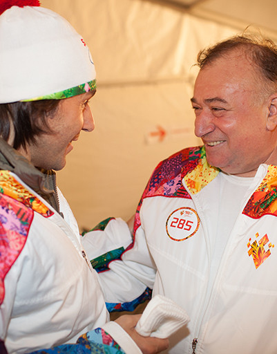 Андрей Малахов и легендарный пловец Шаварш Карапетян