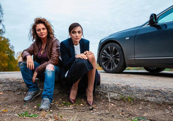 Кадр из сериала «Отчаянные» — с партнершей Анной Банщиковой