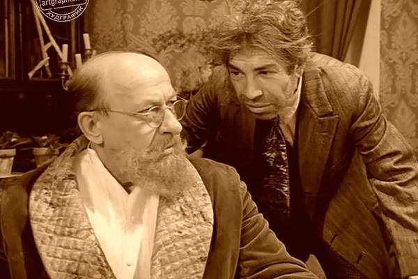 Евгений Евстигнеев и Владимир Толоконников (на фото справа) в фильме «Собачье сердце», 1988 год