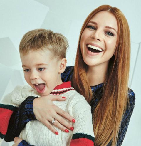 Наталья Подольская с сыном Темой