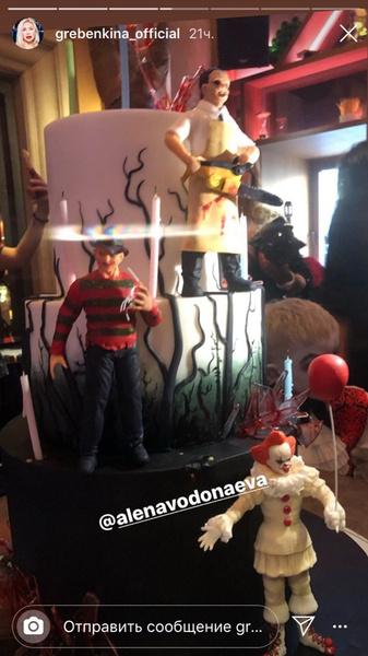 Торт был украшен персонажами известных хорроров