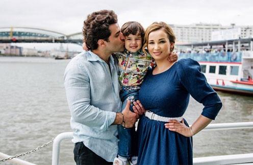 Анфиса Чехова с гражданским мужем гурамом Баблишвили и сыном Соломоном