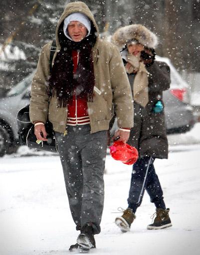 Даже по меркам Нью-Йорка снегопад был сильным
