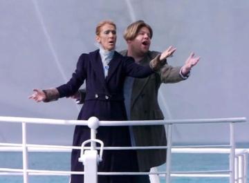 Селин Дион повторила сцену из «Титаника» спустя 22 года после выхода фильма