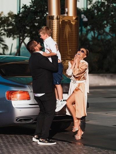 Маджид прекрасно ладит с сыном Жени