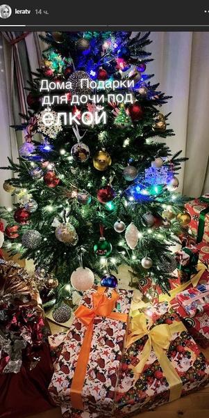 Теледива отмечает Новый год с семьей