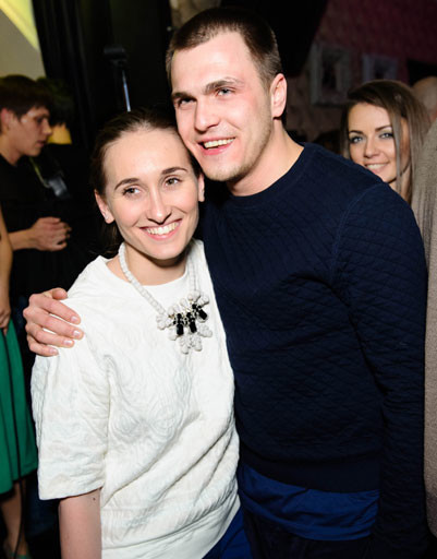 Анастасия Винокур с женихом