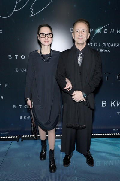 Олег Меньшиков и его жена Анастасия