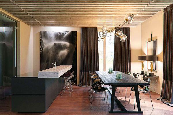 Апартаменты артиста оформлены в спокойных тонах